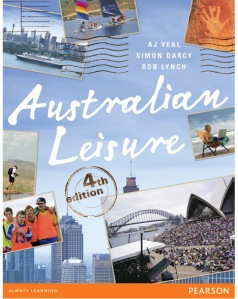 The cover of the book has a picture of people with intellectual disability after sport game, a major event taking place in the Sydney Opera House forecourt, a person sitting at the beach on a chair using a Mac airbook, a cruise ship in Sydney Harbour, two single-handed dinghies in a race, a person trekking and a representation of Aboriginal rock art.